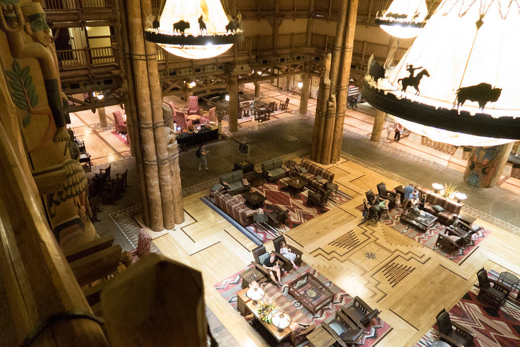 Wilderness Lodge Lobby aerial view