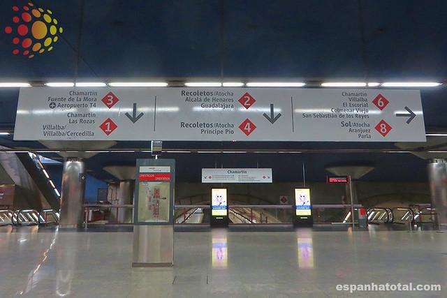 como usar os trens de Madri