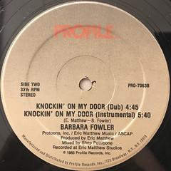BARBARA FOWLER:KNOCKIN' ON MY DOOR(LABEL SIDE-B)