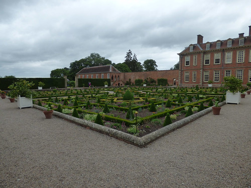 The Long Gallery at Hanbury Hall from The Sunken Parterre