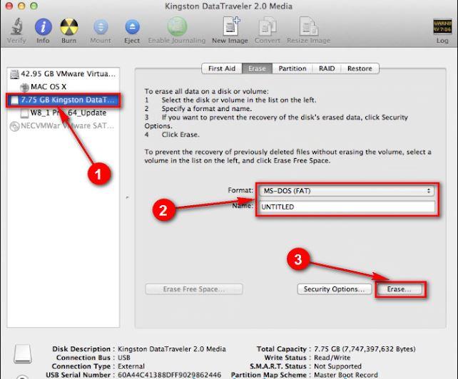 Format USB trên macOS