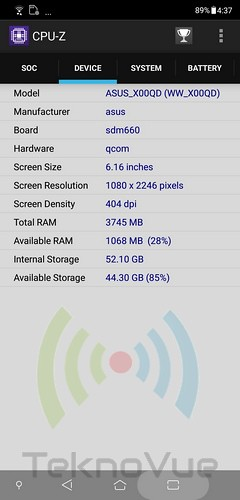 ASUS Zenfone 5 - CPU-Z SoC