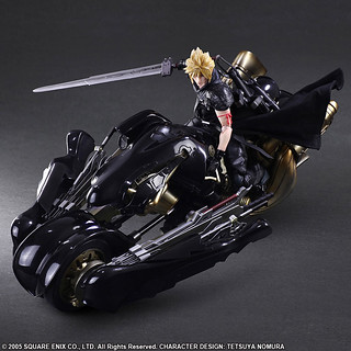 That's a Sweet Ride. Final Fantasy VII: Advent Children Play Arts Kai Cloud Strife & Fenrir(クラウド・ストライフ&フェンリル)