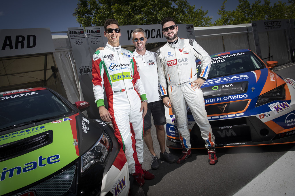 RODRIGUES Jose (PRT), Honda Civic TCR, Target Competition, portrait FLORINDO Edgar (PRT), Seat Cupra TCR, Veloso Motorsport, portrait MONTEIRO Tiago (por), Boutsen Ginion Racing, portrait during the 2018 FIA WTCR World Touring Car cup of Portugal, Vila Real from june 22 to 24 - Photo Francois Flamand / DPPI
