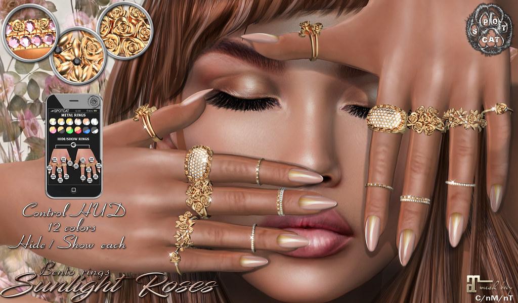 … SpotCat … Sunlight Roses – Bento rings