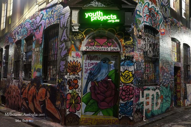 2017 Australia Melbourne Day 1 Hosier Lane Graffiti Street Art