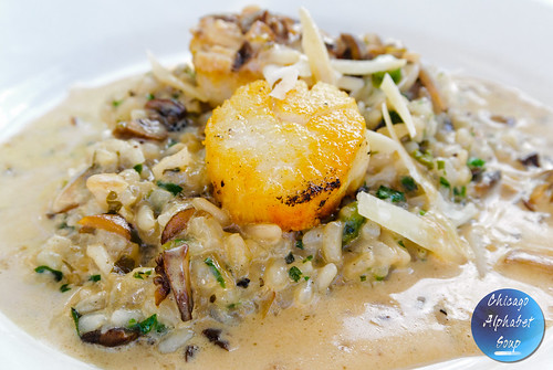 Risotto with Pan Seared Diver Scallops