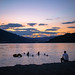 Bagno al tramonto - lago di Caldonazzo