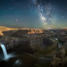 The Milky Way over Palouse Falls just as the moon is setting around 2 a.m. by diana_robinson