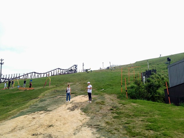 蓬莱山 びわ湖バレイ 山頂への道