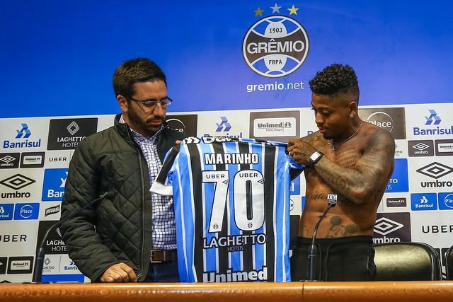 Apresentação Marinho no Grêmio