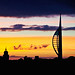 The Spinnaker at sunset