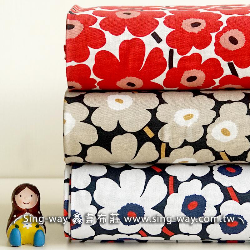 雞蛋花 (大特價) 可愛少女風 植物 緬梔 重複圖案 束口袋 化妝包 手工藝DIy拼布布料 CF550685