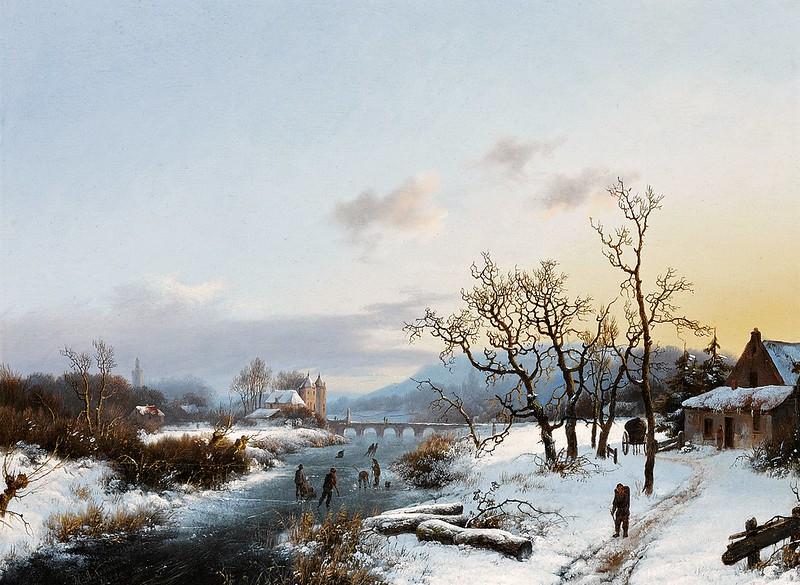 Marinus Adrianus Koekkoek - Winter Landscape