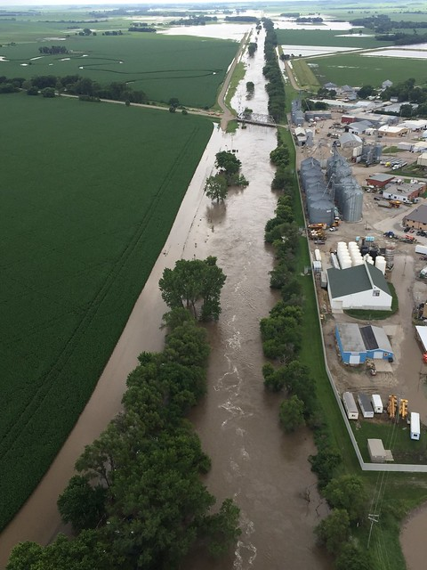 Gov. Ricketts Surveys Northeast Nebraska Flooding as the State Assists with Response