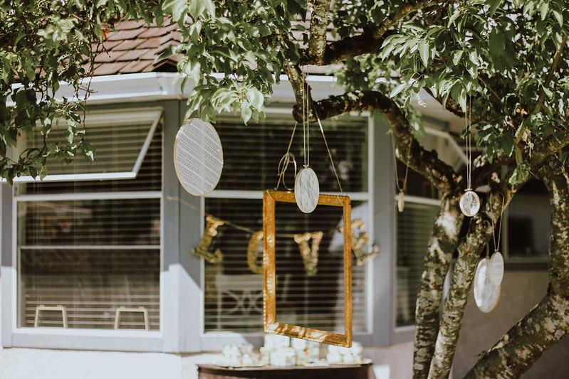 backyard bridal shower - boho bridal shower