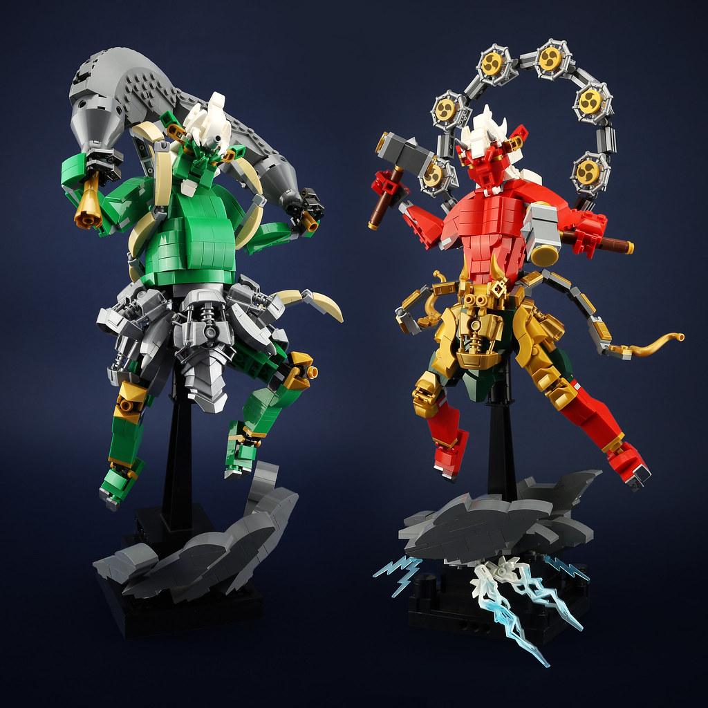 [MOC分享] Raijin&Fujin 風神&雷神