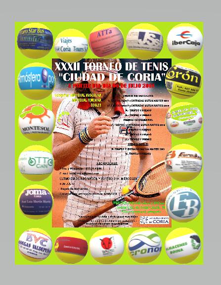 Todo preparado para el XXXII Torneo de Tenis Ciudad de Coria que comienza este viernes
