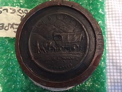 Society of Medalists Pony Expres medal reverse wax mold
