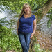 Aly on the banks of the River Dee