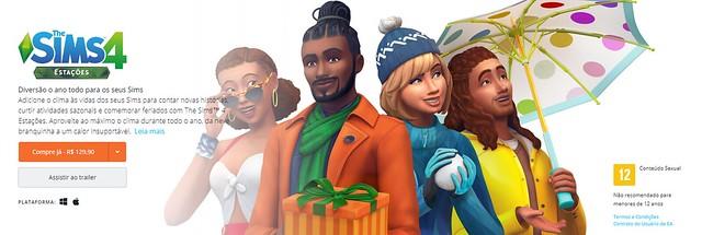 The Sims 4 Estações é Oficialmente Lançado