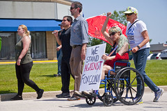 Protesting the Soon to be Built Foxconn Electronics Plant Mt. Pleasant Wisconsin 6-28-18  2093