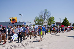 Protesting the Soon to be Built Foxconn Electronics Plant Mt. Pleasant Wisconsin 6-28-18  2087