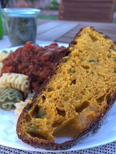 Carrot Loaf accompanied with Baia Pasta bolognese