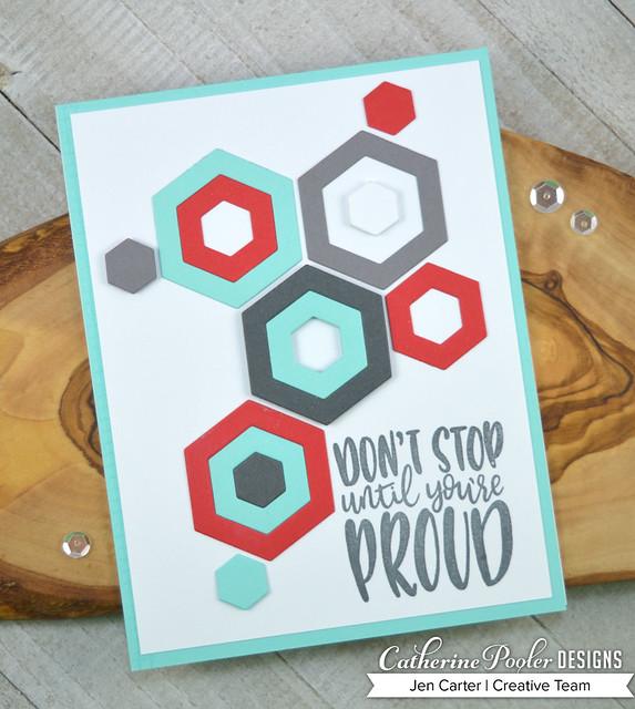 Jen Carter CP Tropically Yours Cabana Tiles Hexagon Stop Proud 1