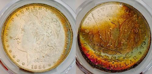 1884-O Morgan PCGS MS65 Toned 2