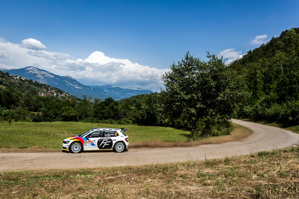 16 Albert Von Thurn Und Taxis (GER), Bjorn Degandt (BEL), BRR Baumschlager Rallye & Racing Team, SKODA FABIA R5, action during the 2018 European Rally Championship ERC Rally di Roma Capitale,  from july 20 to 22 , at Fiuggi, Italia - Photo Thomas Fenetre / DPPI