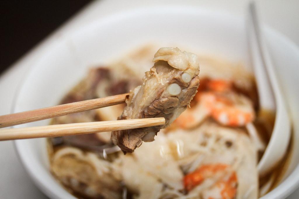 猪排虾米肠排虾排虾面-排骨