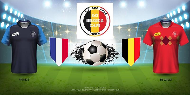 WK Dorp Belgica & Yssis café FRANKRIJK-BELGIE 1-0 (Olivier Stadium, Knokke) 10/07/2018