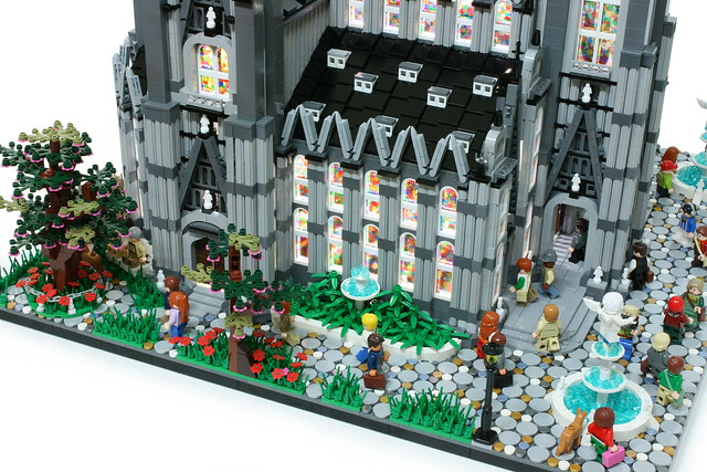 "LEGO "" Catholic church "" diorama."