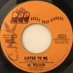 AL WILSON:SHOW AND TELL(LABEL SIDE-B)