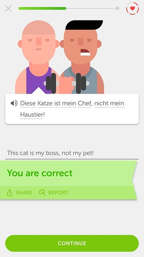 From Mark's online German lessons...