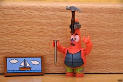 Patrick want to hang a painting