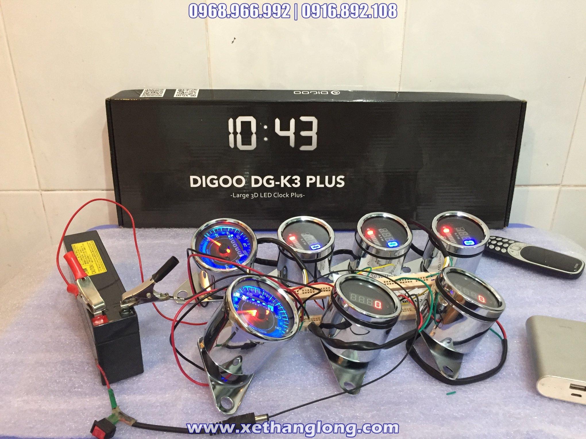 Đồng hồ báo tua, xăng, công tơ mét