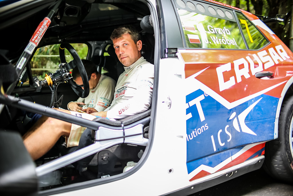 GRZYB Grzegorz (POL), Jakub Wrobel (POL), Rufa Sport, SKODA FABIA R5, portrait during the 2018 European Rally Championship ERC Rally di Roma Capitale,  from july 20 to 22 , at Fiuggi, Italia - Photo Thomas Fenetre / DPPI