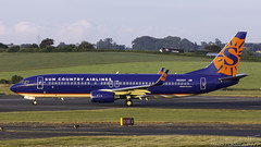 N825SY Boeing 737-8F2(WL) Sun Country Airlines Prestwick 120618