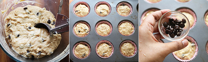 How to make whole wheat choco chip muffins recipe - Step6