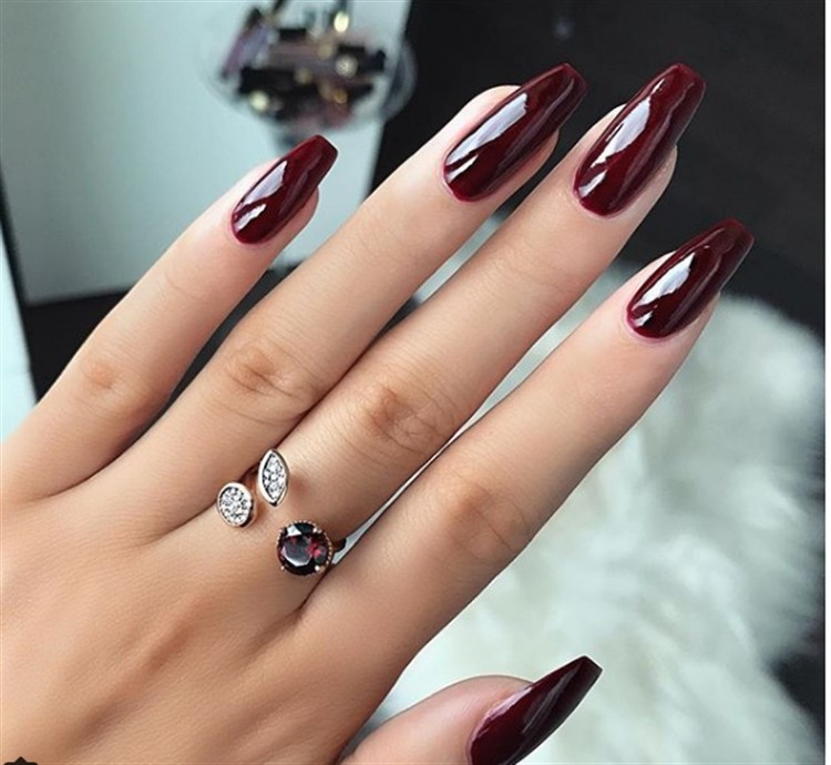30+ Majestic Burgundy Nail Art Designs  The best gallery