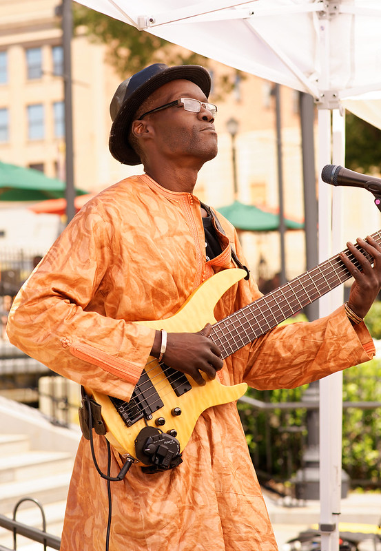 Thierno Camara - Crocodile River Music Playing Downtown Worcester