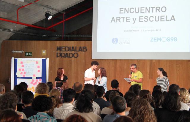 ENCUENTRO ARTE Y ESCUELA - FUNDACIÓN CARASSO & ZEMOS98 - MEDIALAB PRADO - MADRID 2-4.7.18
