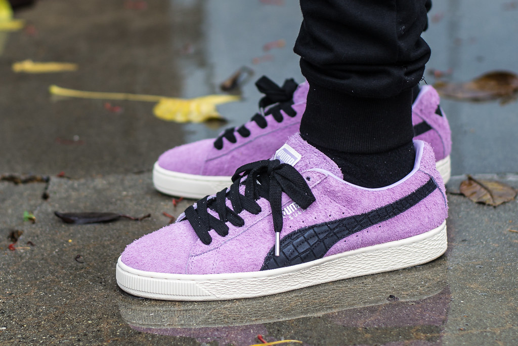 ... Diamond x Puma Suede Orchid Bloom on foot  679e7bbc5