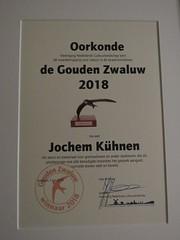 Gouden Zwaluw oorkonde, 7 juni 2018