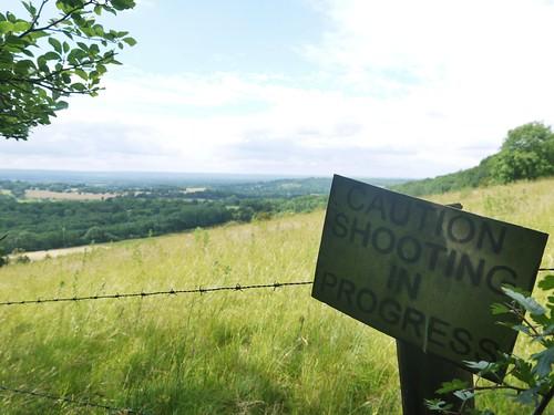 Climbing to North Downs Way