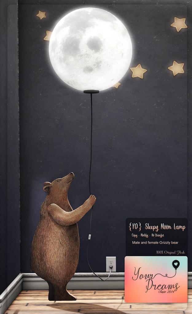 {YD} Sleepy Moon Lamp