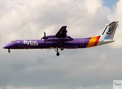 Flybe DHC-8-Q402 G-PRPI landing at LHR/EGLL