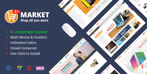 Market v2.3.0 – Shopping WooCommerce WordPress Theme